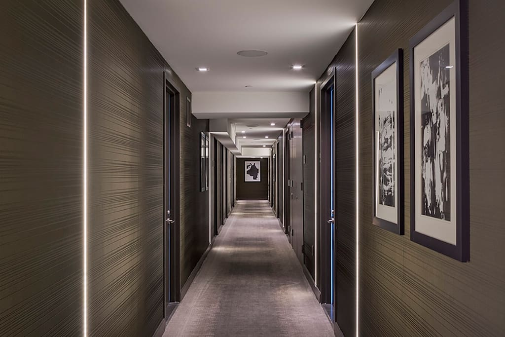 Corridor on 50th Floor Apartments