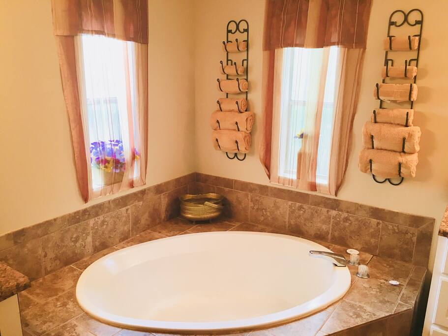 Gold Room Tranquil soaker tub.