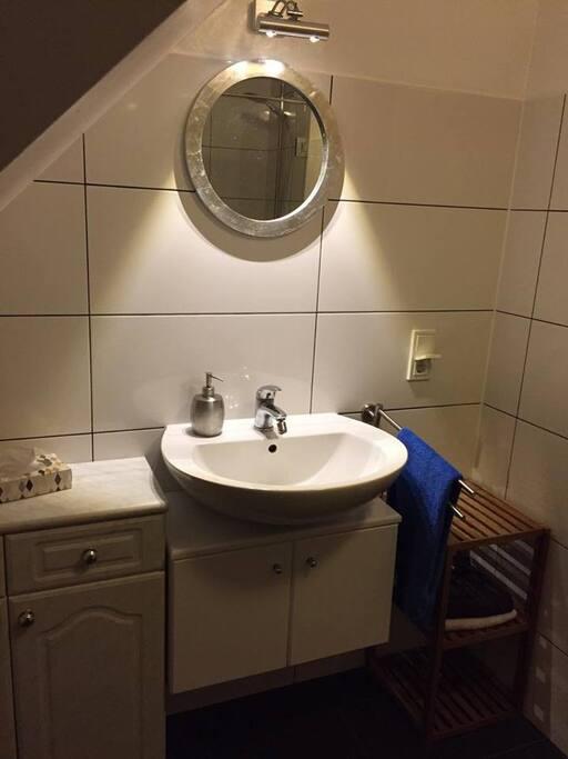 Badezimmer Ansicht zum Waschbecken