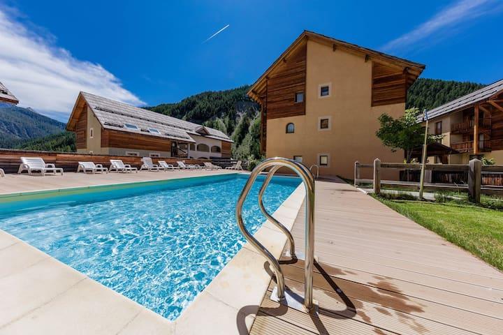 Appartement au calme et équipé dans le coeur du Queyras | Accès piscine