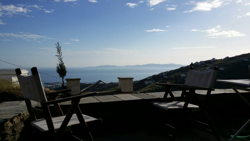 Apartment with amazing Aegean View - Triantaros - Apartamento