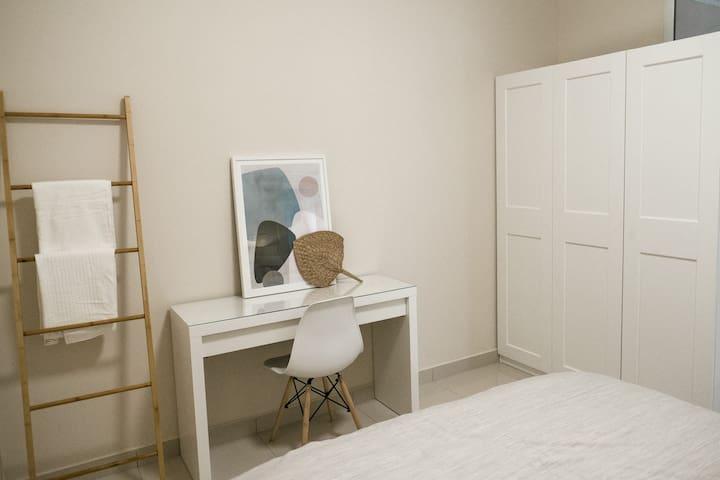 Vanity table in main bedroom