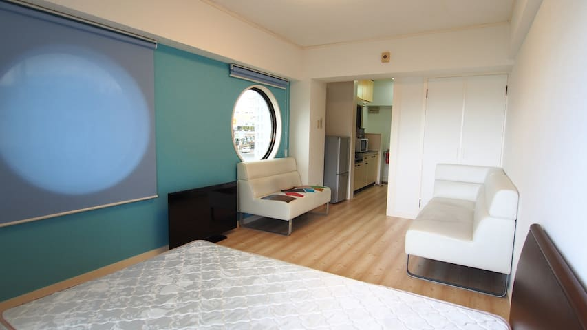 Nago★NearBeach1BR#3★Free Parking/WiFi/Kid★Aquarium - Nago-shi - Apartemen