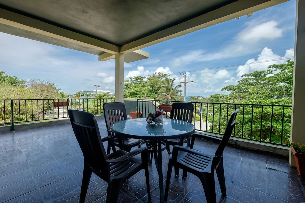 3rd Floor patio, available for all guests to use during their stay!