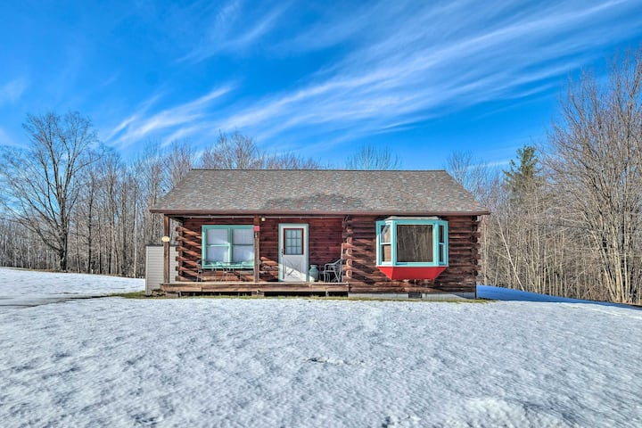 NEW! High Peak Heaven: Cozy Log Cabin on 1 Acre!