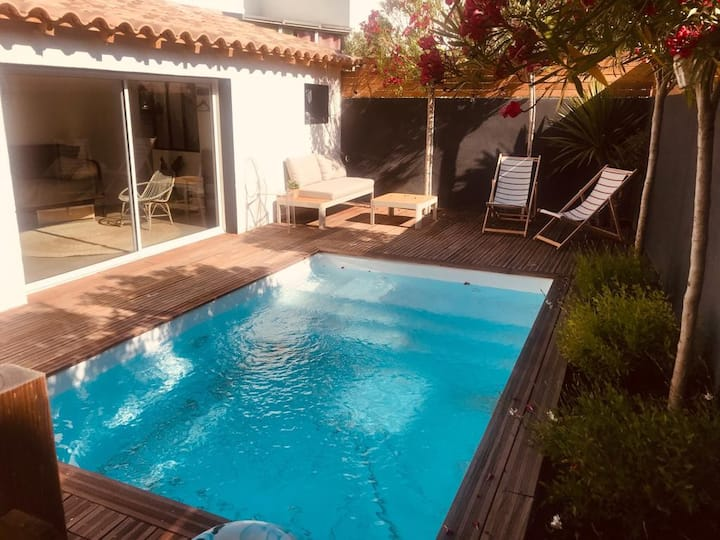 Studio avec piscine au calme à Montpellier.