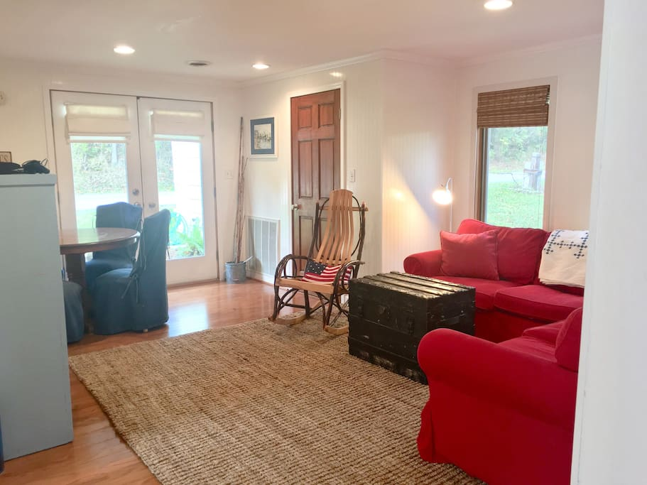 Open floor plan with living room and kitchen