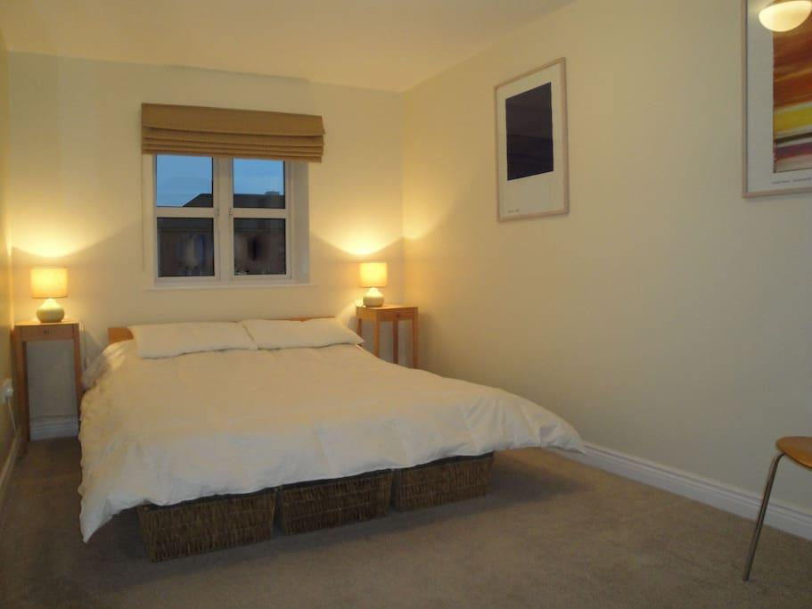 Enjoy the huge king-size bed!