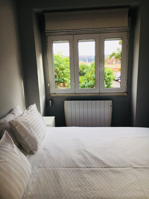 Room 1 - bed and view