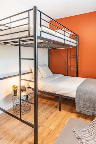 Bedroom #2 with fun and comfy twin loft beds!