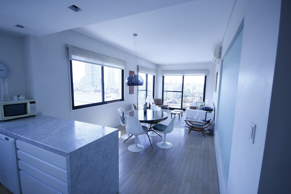 vista desde la entrada del apartamento