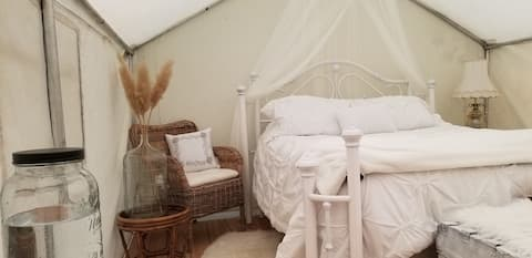 Dreamy Wall Tent,  Glamping for Two