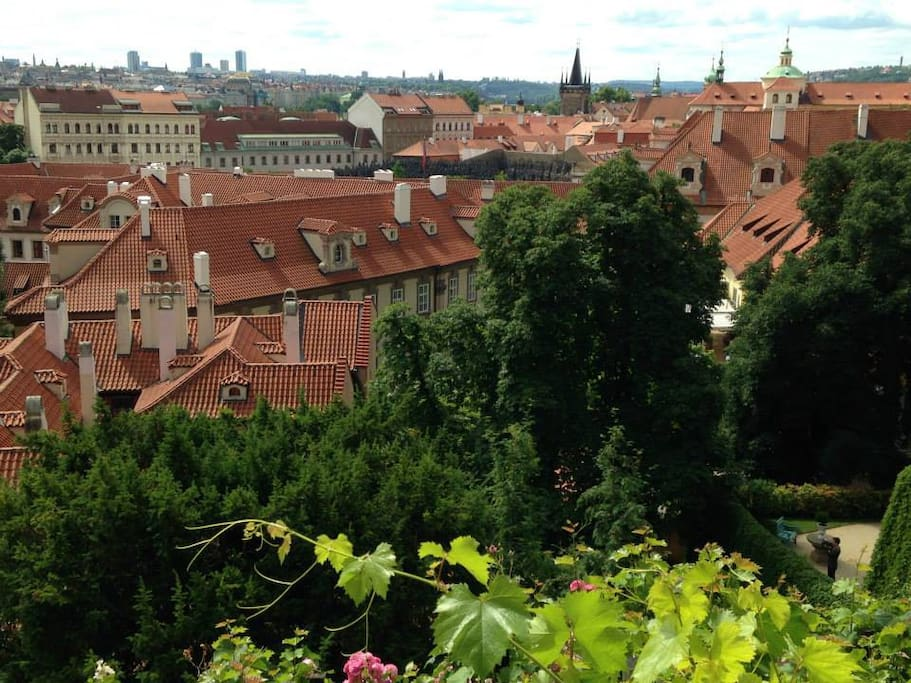 View of Prague´s roofs