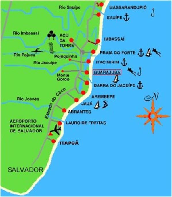 Mapa da Região