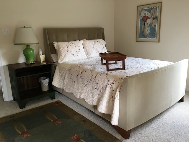 Luxurious queen size bed!