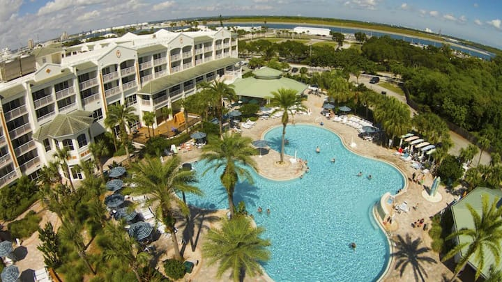 2 BR/2BA at family friendly beach side resort.