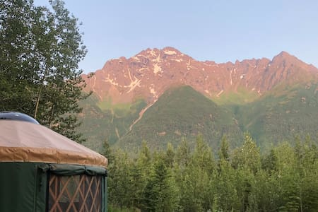 River front yurt with a view