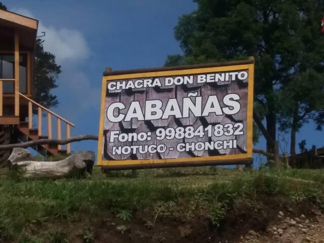 CABAÑA 2 CHACRA DON BENITO CHONCHI