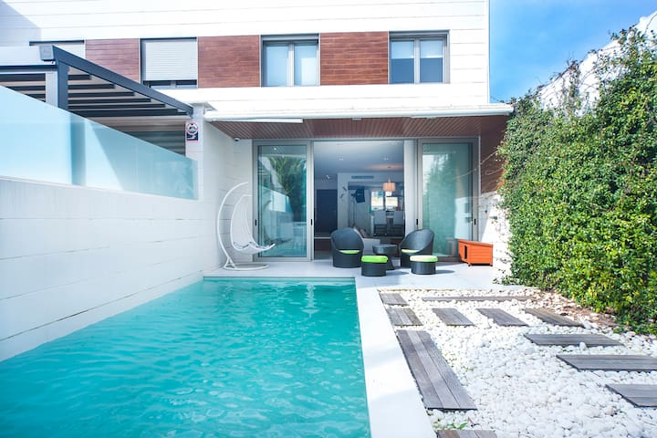 Villa Marques, Palma centre with private pool - Palma - Stadswoning