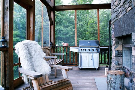 Hidden luxury mountain cabin on 60+acres - Margaretville