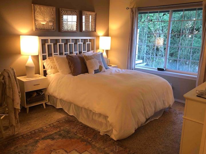 Spacious, beautiful, light & bright master suite