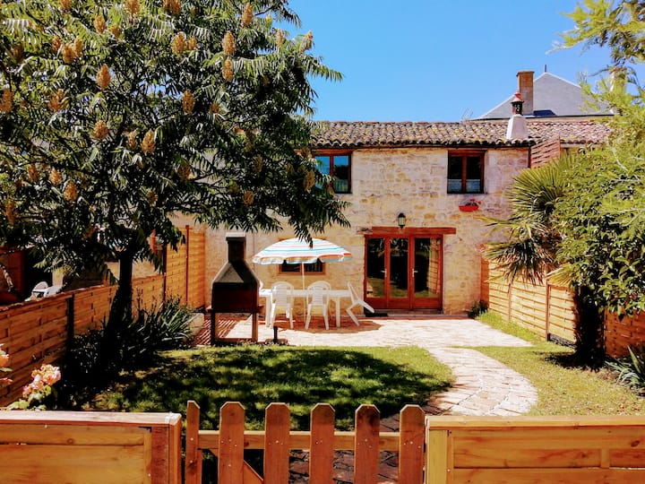 3 bedroom cottage with pool and garden.