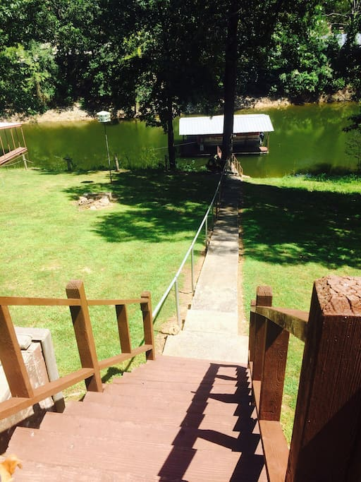 Private dock for fishing or hooking up your boat/sea-do
