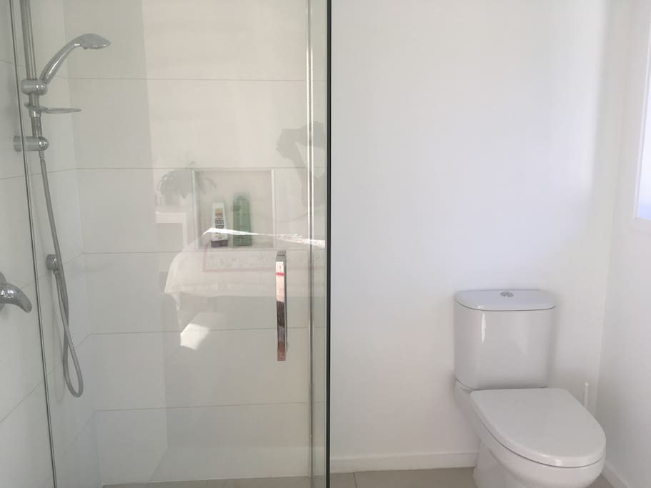 Great Shower in your Private Bathroom.