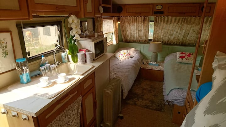Heated calme and cosy caravan