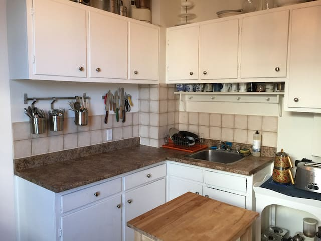 The kitchen is fully equipped and has lots of counter space
