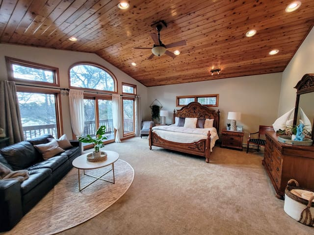 Enter the spacious Master Bedroom to the right of the entry.