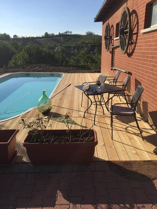 """The pool, overlooking """"montemareto"""" vineyard. For beautiful sunsets and an """"apertivo"""""""