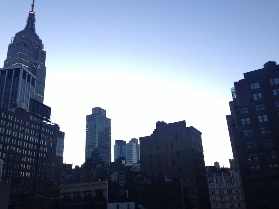 roof top with view of the empire state building !