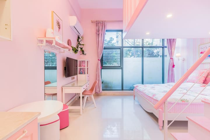 毗邻西溪灵隐LOFT精装单身公寓紫庭雅舍公主风