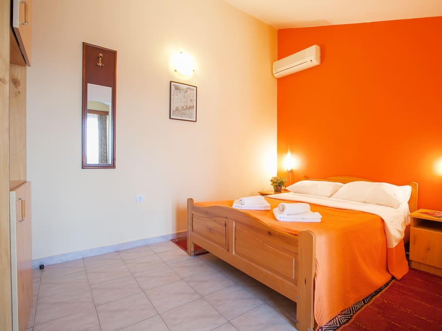 Rooms are air conditioned and cleaned daily