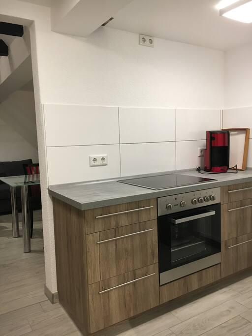 Küchenzeile komplett eingerichtet