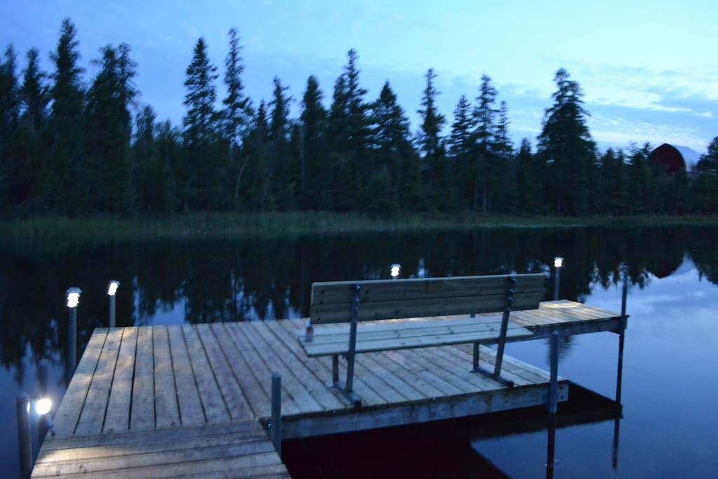 Brand New Dock at night