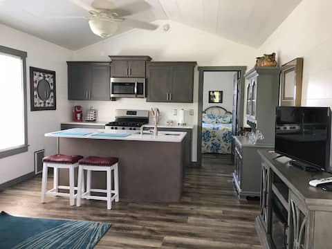 Tiny home in farm setting