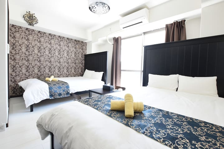 10min walk from subway! A fancy  room! Room No202