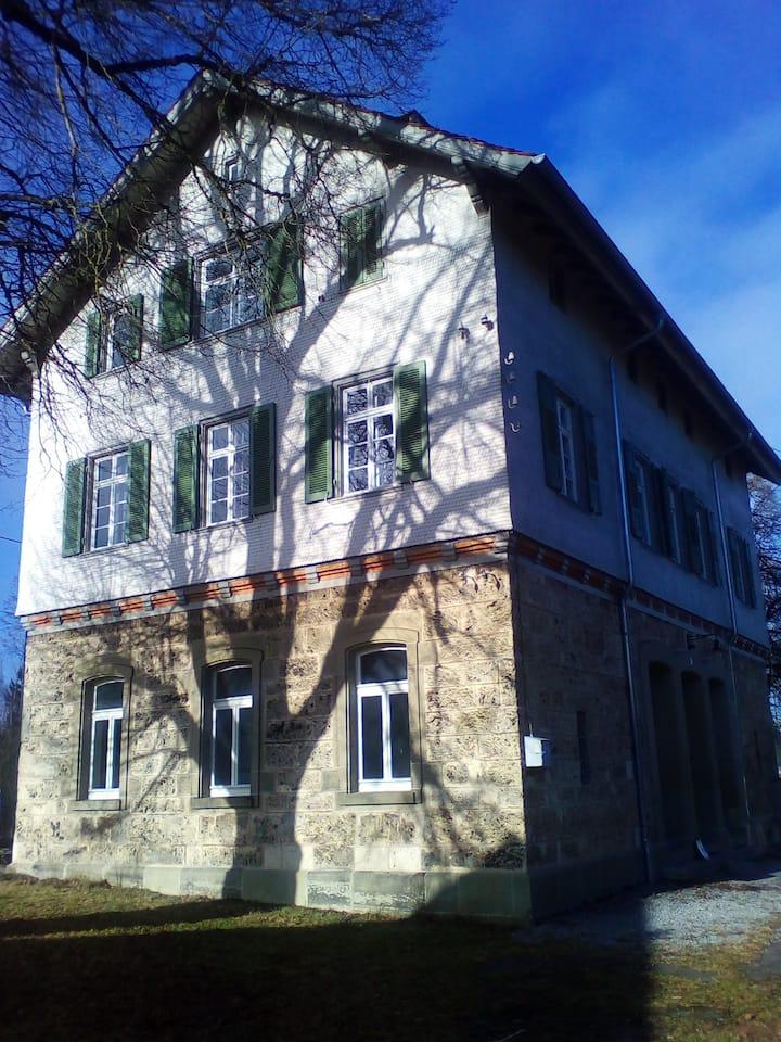 Historic railway station building
