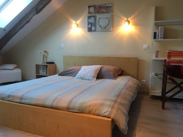 Belle chambre pleine de charme - Redon - Huis