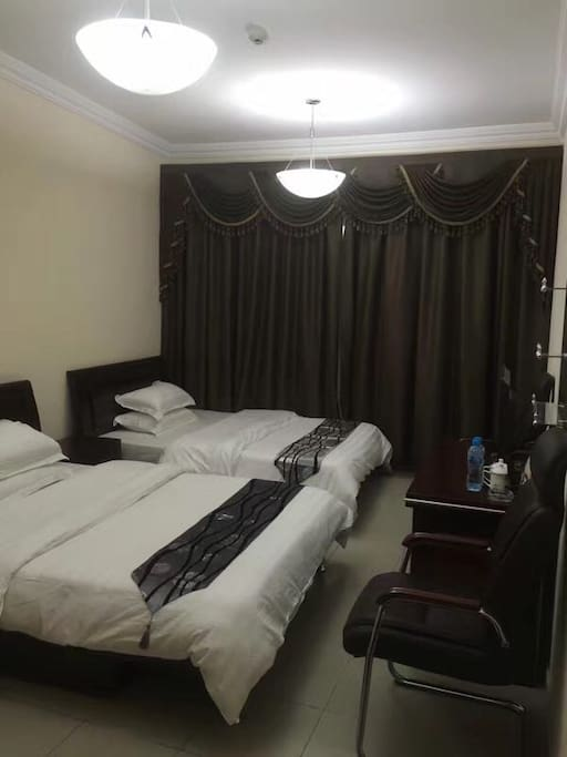 Double beds with bathroom 240dhs/night