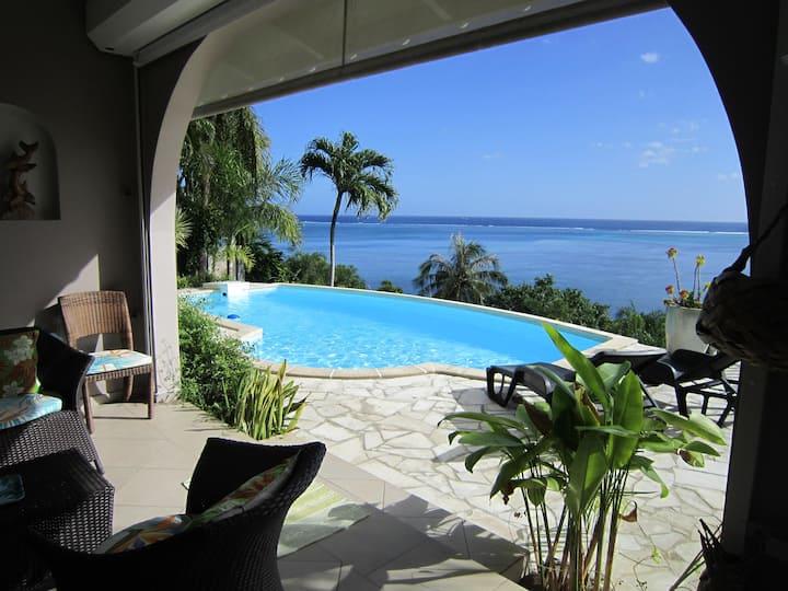 Villa Moorea Piti-Piscine-Vue 180° sur lagon