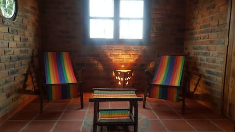 Habitación para dos Personas en Cabaña Rustica