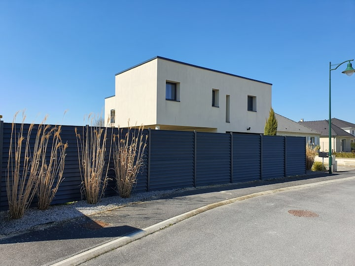 2 chambres privatives à 12 mn de Reims dans villa