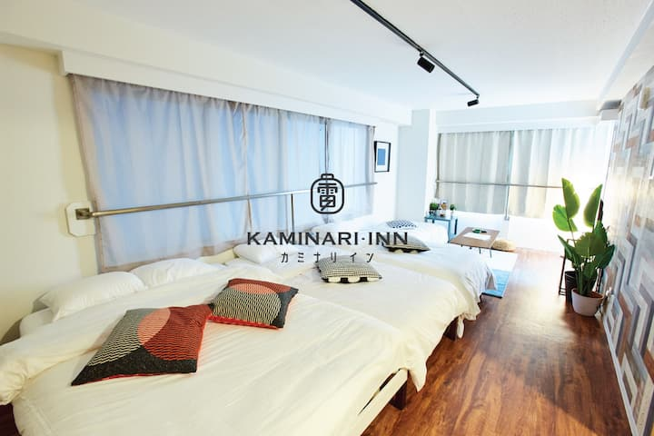 KAMINARI INN -  THE FLAT | FAST WIFI - SUBWAYS |