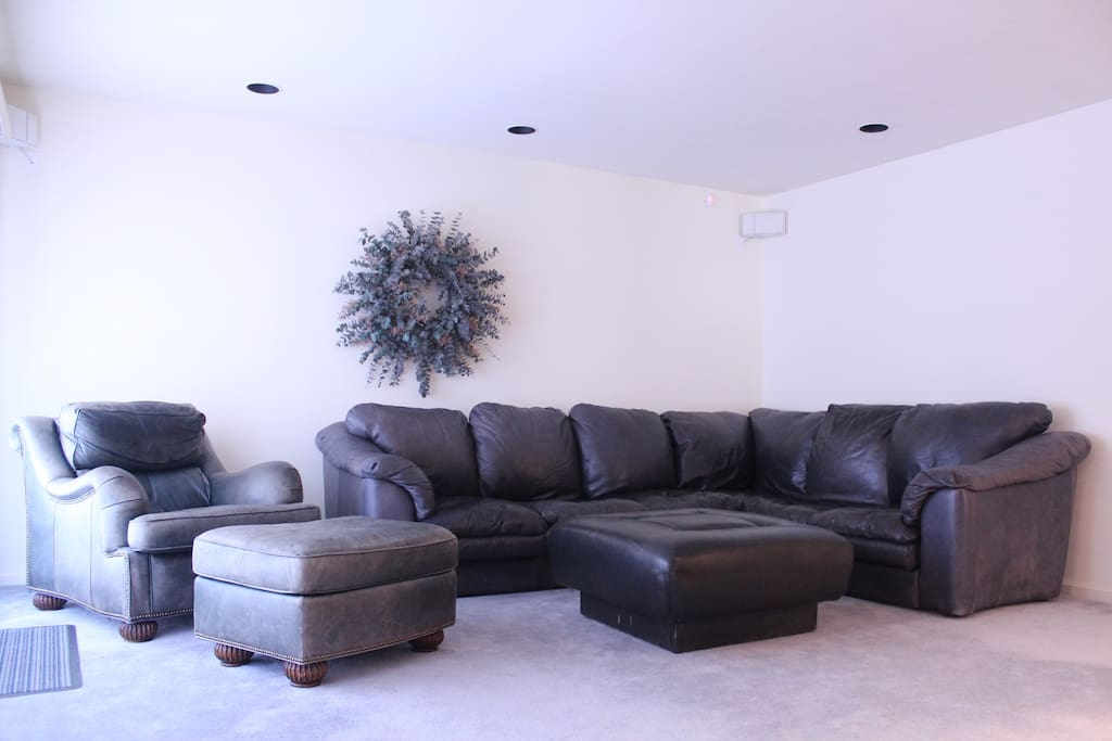 """Living Room with 55"""" LCD HDTV"""