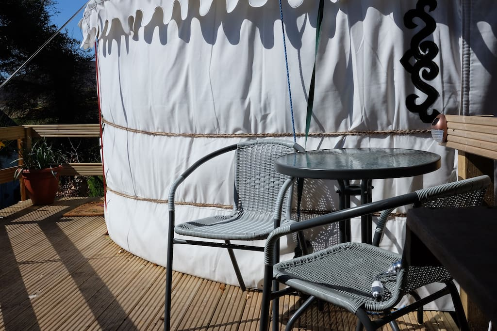 Enjoy the scenery whilst relaxing on the decked area