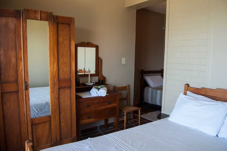 A double room with an en-suite room