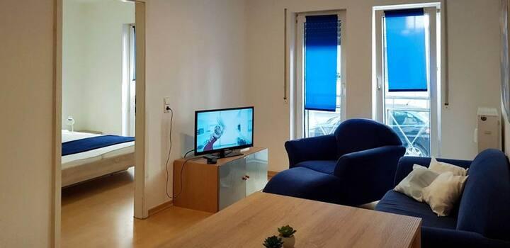 Moderne 2-Zimmer-Wohnung im Zentrum von Walldorf